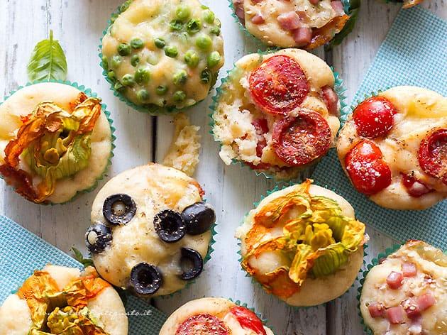 Muffin salati (1 solo impasto mille gusti diversi ) - Ricetta Muffin salati-