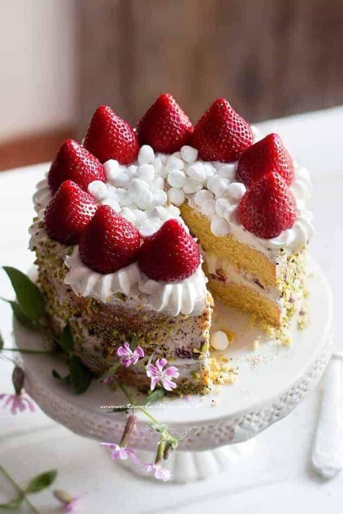 Torta Panna E Fragole Ricetta Facile Veloce E Di Grande Effetto