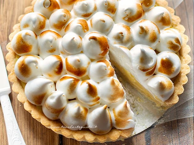lemon meringue pie - torta meringata al limone - Ricetta Lemon meringue pie-