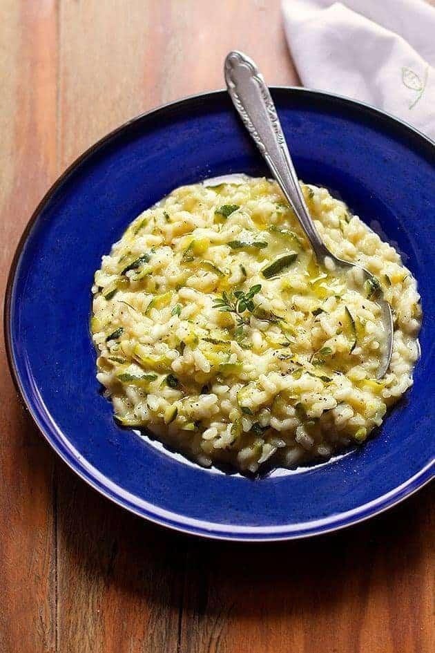 risotto con zucchine cremoso - Ricetta Risotto con zucchine