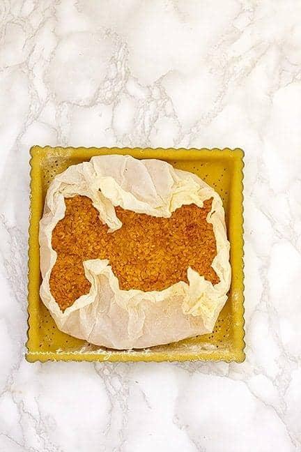 Cottura in bianco - Ricetta Crostata di pesche