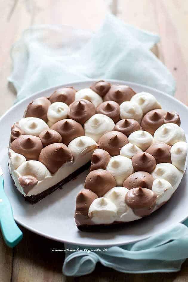Cheesecake bicolore cioccolato e vaniglia - Ricetta Cheesecake bicolore