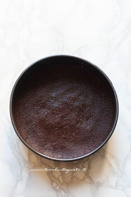 base di biscotti al cacao - Ricetta Cheesecake bicolore