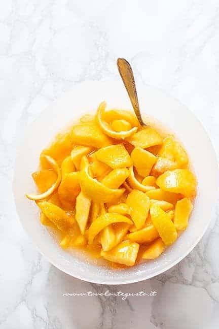 marinare le pesche con zucchero e limone - Ricetta marmellata di pesche