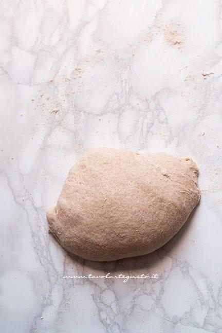 Impasto farina integrale pronto - Ricetta pizza integrale