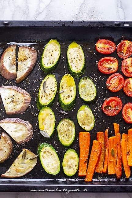 cuocere verdure in forno - Ricetta pizza integrale