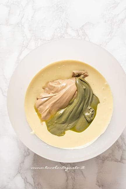 crema al pistaccio, con cioccolato bianco e nutella bianca - Ricetta Torrone al pistacchio