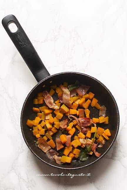 zucca e pancetta - Ricetta Carbonara di zucca
