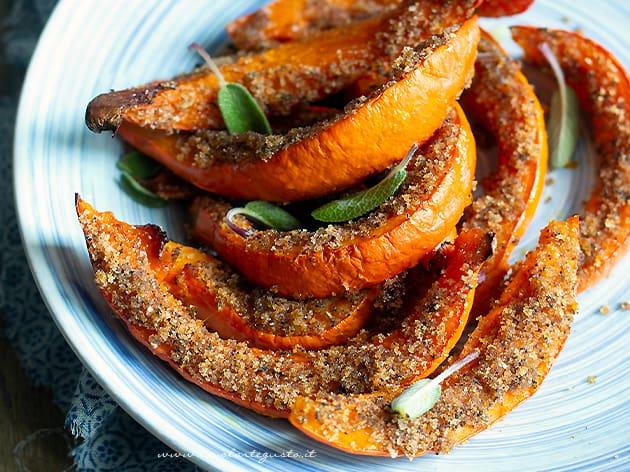 zucca gratinata (croccante, gustosa e light) - Ricetta zucca gratinata-