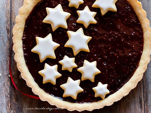Crostata natalizia con stelle - Ricetta Crostata natalizia-