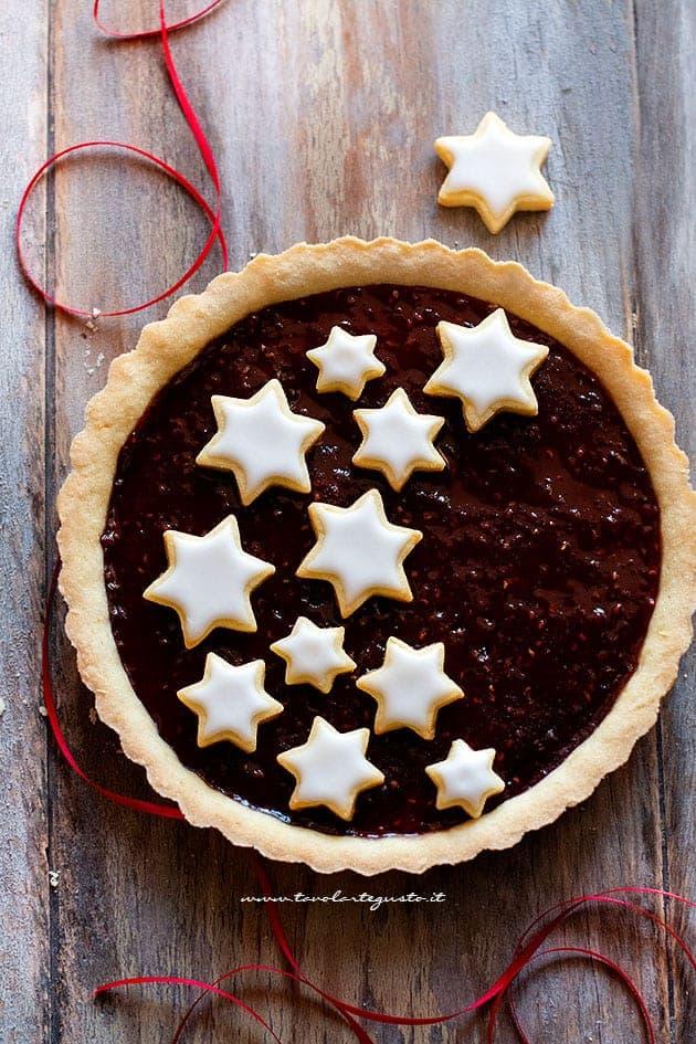 Crostata natalizia con stelle - Ricetta Crostata natalizia