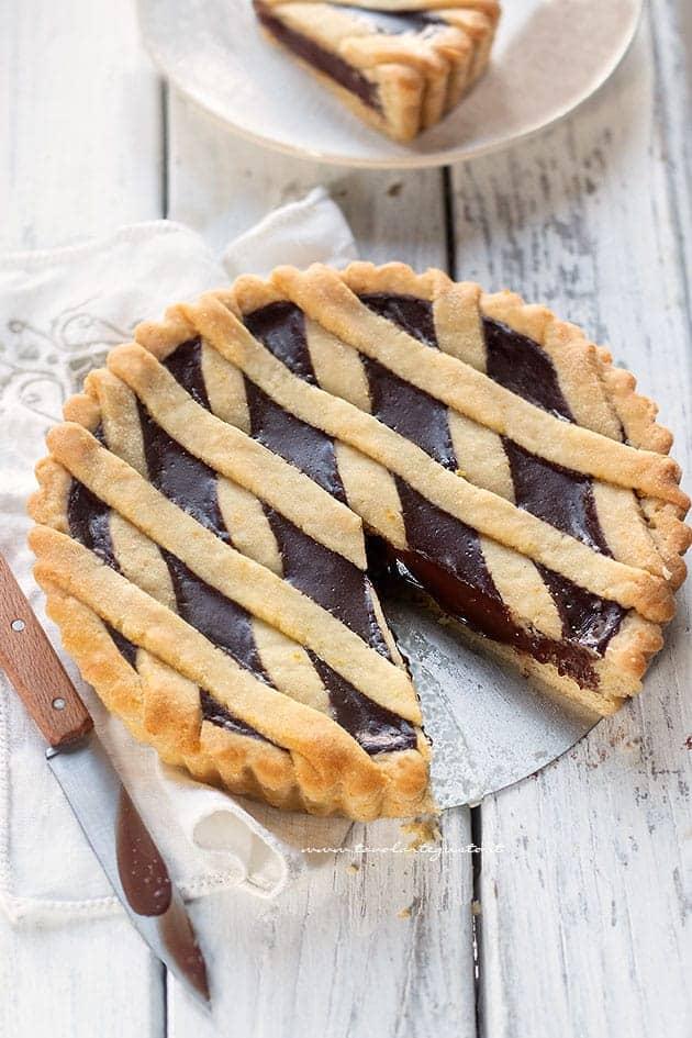 Crostata Senza Uova.Crostata Vegana Al Cioccolato Crostata Senza Uova Burro E Latte