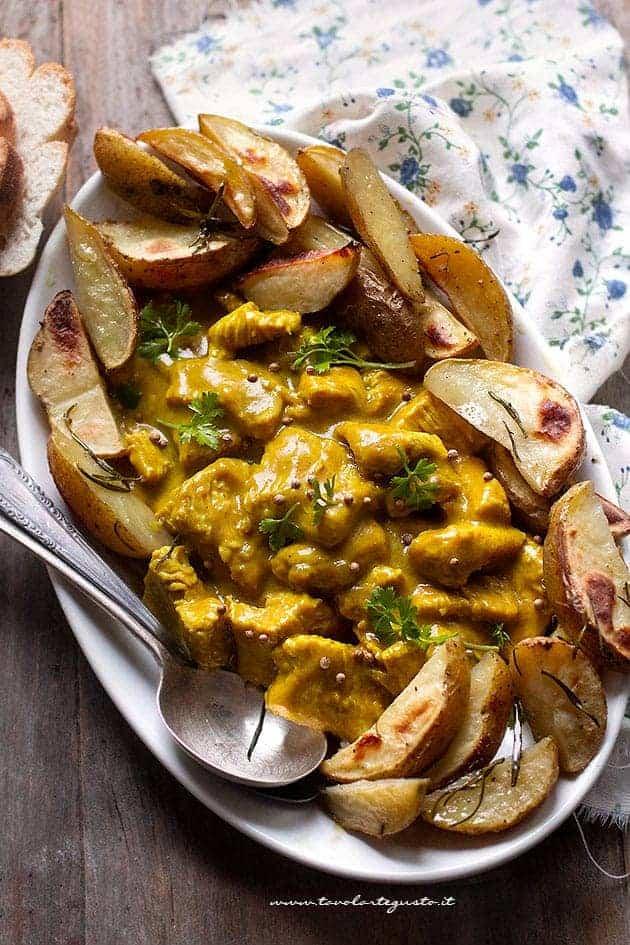 Bocconcini di Tacchino al curry - Ricetta Tacchino al curry