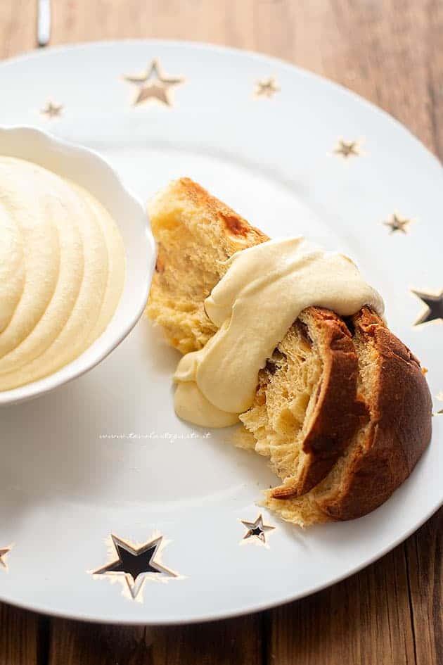 Crema al mascarpone per padoro e panettone - Ricetta Crema al mascarpone
