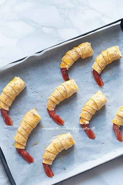 Gamberi in crosta - Ricetta Gamberi in crosta di pasta sfoglia