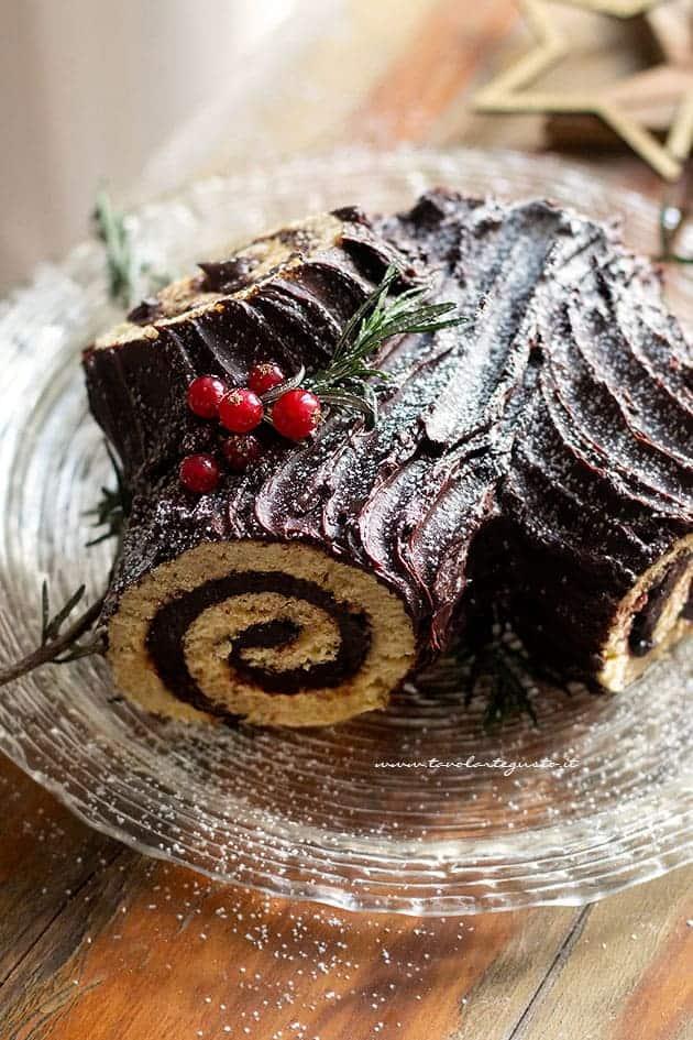 Tronchetto di Natale - (Bûche de Noël) Ricetta Tronchetto di Natale