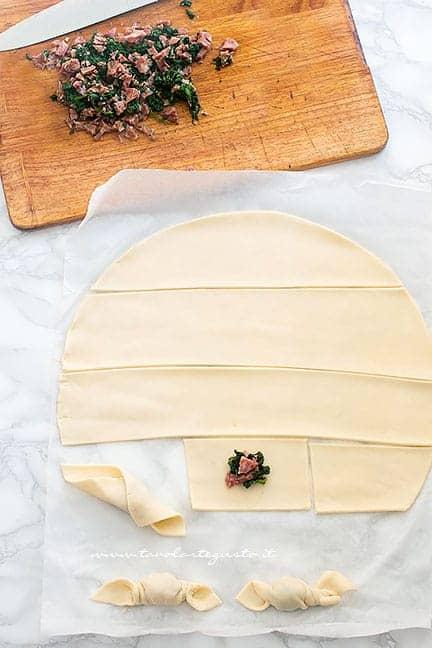 come dare la forma di caramelle - Ricetta Caramelle salate ripiene