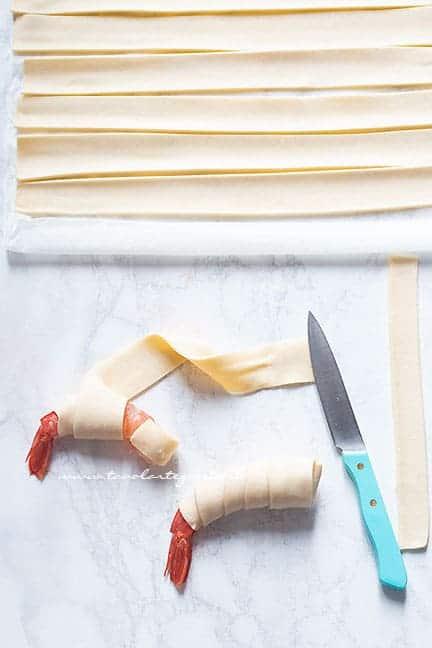 come fare i gamberi in crosta - Ricetta Gamberi in crosta di pasta sfoglia