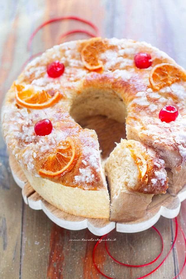 Roscon de Reyes (ciambella dei re) - Ricetta Roscón de Reyes
