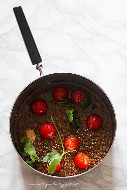 come cuocere le lenticchie - Ricetta Pasta e lenticchie