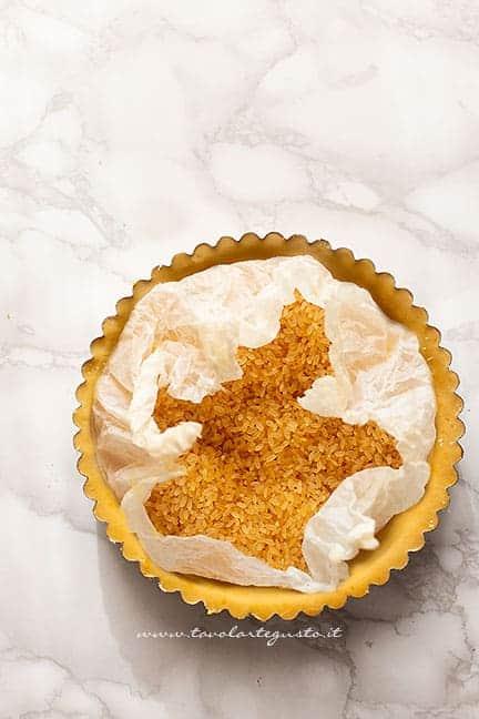 cottura in bianco crostata - Ricetta Crostata all'arancia