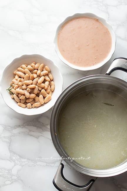 cuocere i fagioli - Ricetta Ribollita