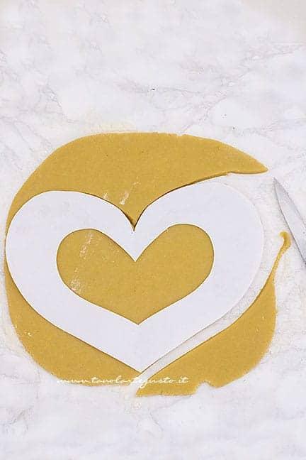 come dare la forma a cuore - Ricetta Cream Tart