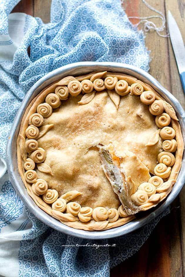Torta di carciofi - Ricetta Torta salata ai carciofi