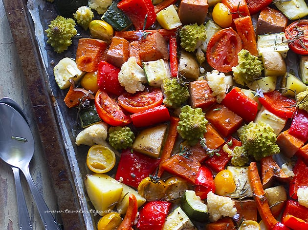 Verdure al forno - Ricetta Verdure al forno-