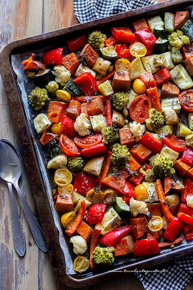 Verdure al forno - Ricetta Verdure al forno