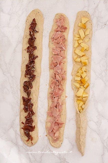 come fare la treccia salata di pan brioche farcito- Ricetta Treccia salata