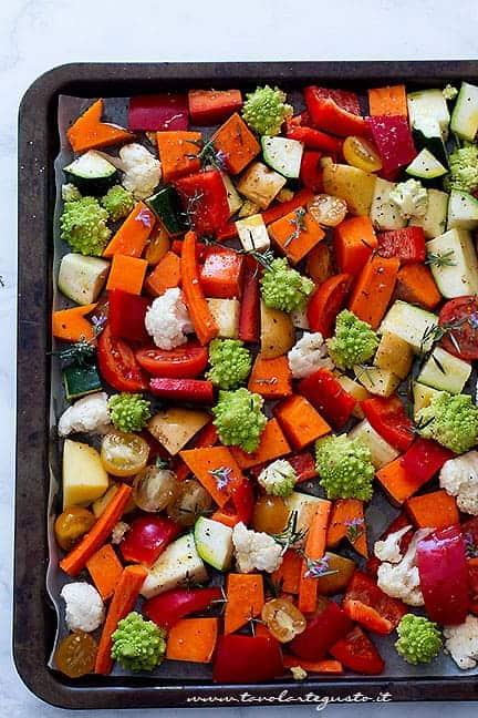 come fare le verdure al forno - Ricetta Verdure al forno