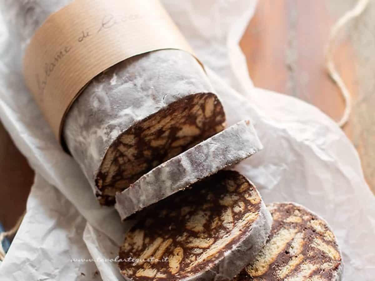 Ricetta Salame Al Cioccolato Spicchio Daglio.Salame Di Cioccolato Ricetta Originale Facilissima E Super Golosa