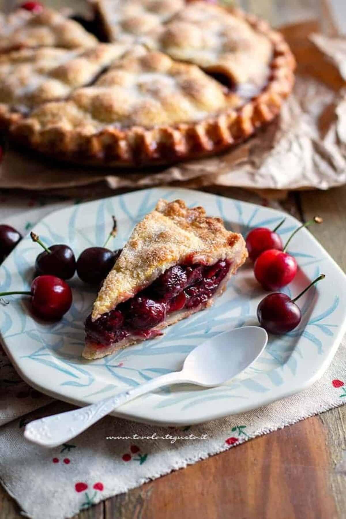 Ricetta Torta Di Mele Americana.Cherry Pie Torta Di Ciliegie Americana Ricetta Originale Veloce