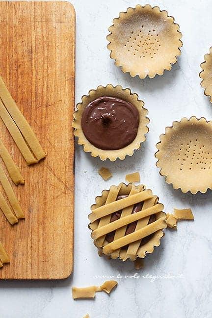come fare le crostatine alla nutella - Ricetta Crostatina alla nutella