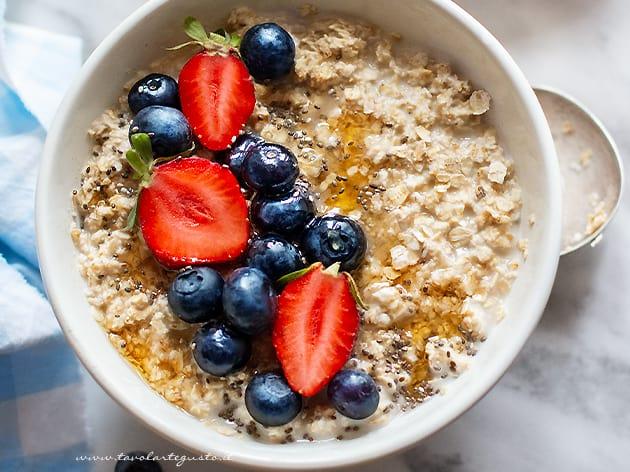 Porridge - Ricetta Porridge per Colazione sana e light-