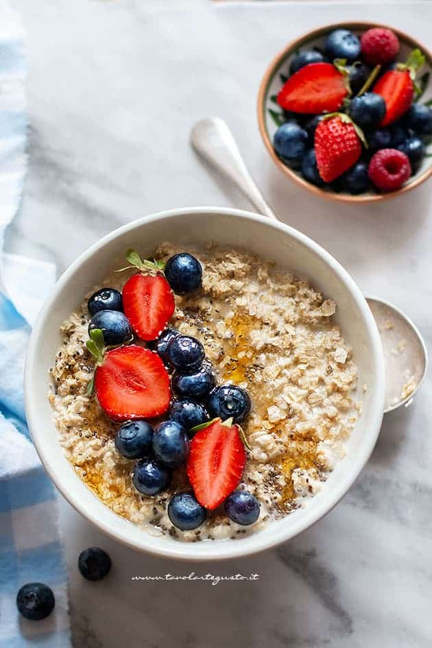 Porridge ricetta originale porridge d 39 avena per una for Cucinare 8n inglese