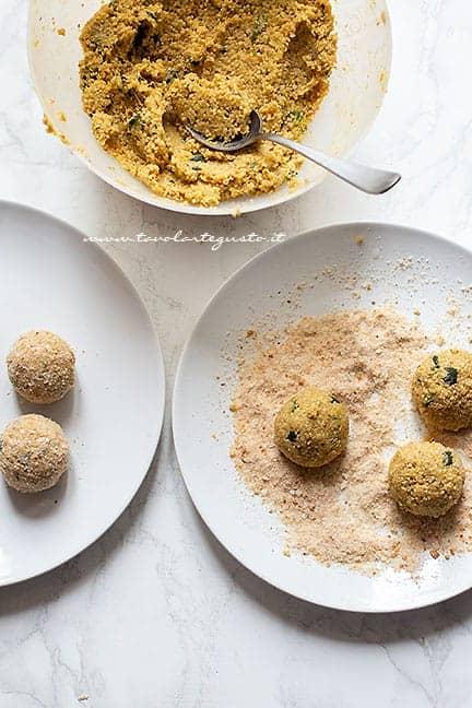 come fare e polpette di quinoa e zucchine - Ricetta Polpette di quinoa