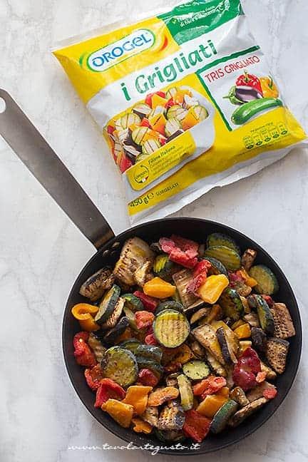 verdure grigliate - Ricetta pasta al forno vegetariana