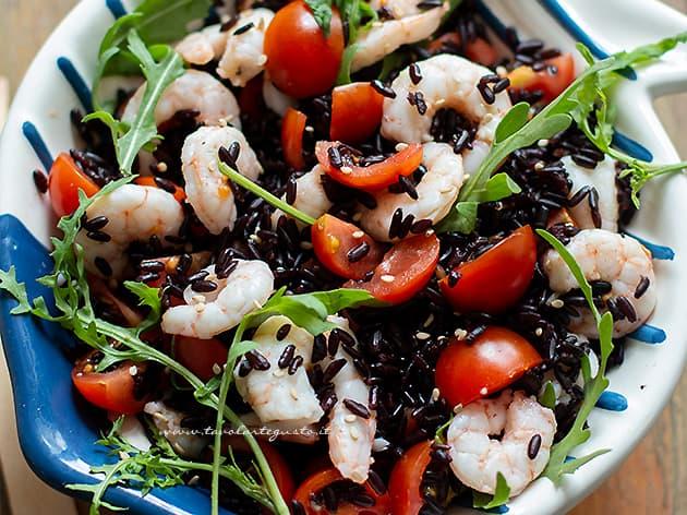 Insalata di riso venere - Ricetta Riso venere allinsalata-