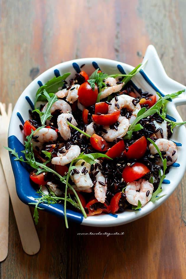 Insalata di riso venere - Ricetta Riso venere all'insalata