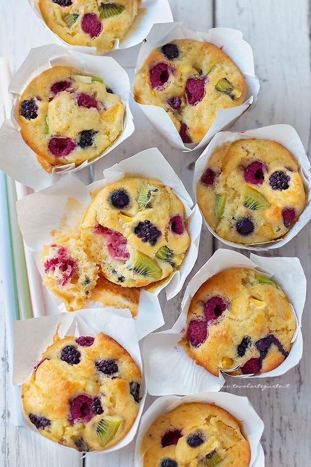 Muffin alla frutta, Ricetta veloce