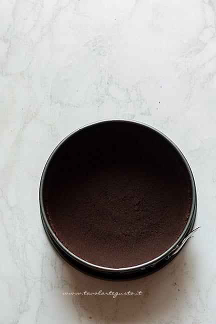 base di biscotti al cacao - Ricetta Cheesecake al cioccolato