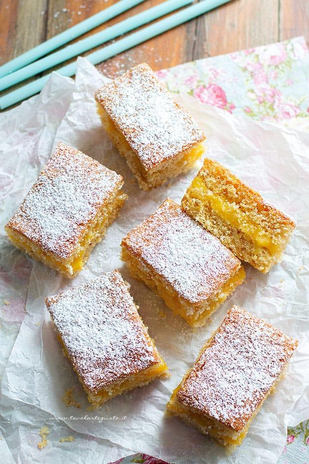 tortine al limone - Ricetta Tortine al limone soffici