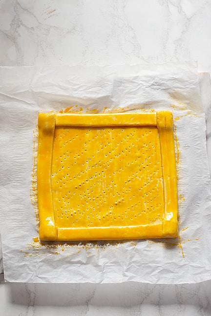 guscio di pasta sfoglia - Ricetta Sfogliata caprese