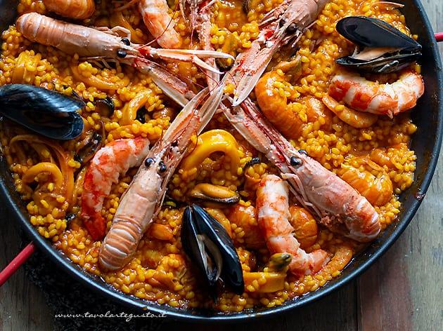 paella - Ricetta paella di pesce (paella de mariscos)-