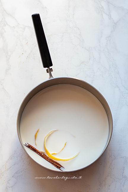 scaldare il latte - Ricetta crema catalana