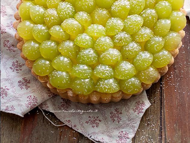 Crostata di uva - Ricetta Crostata di uva-