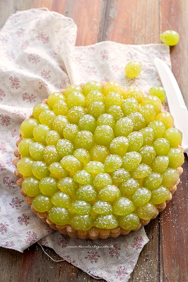 Crostata di uva - Ricetta Crostata di uva