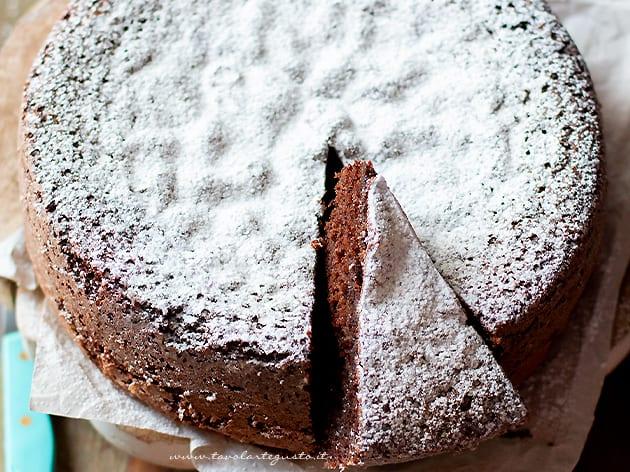 Torta margherita al cacao - ricetta Torta margherita al cioccolato-